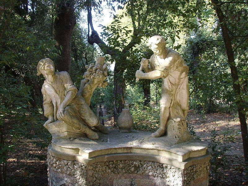 Unusual statues decorate Boboli Garden